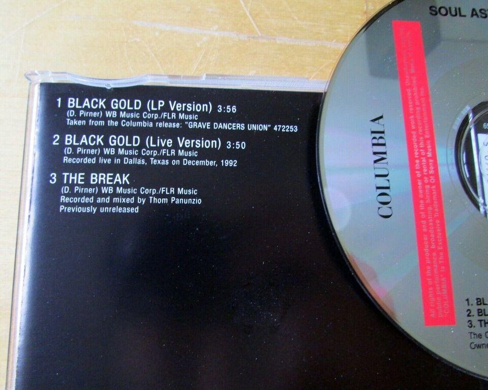 SOUL ASYLUM: BLACK GOLD - CD SINGLE, rock