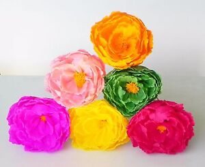 Mexican crepe paper flowers set of 6 multicolor peonis i make image is loading mexican crepe paper flowers set of 6 multicolor mightylinksfo