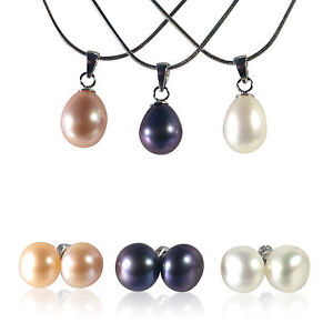 Beautiful-Freshwater-Pearl-Earrings-and-Pendant-Sets