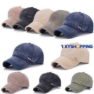 Denim-Men-039-s-Women-Hats-Military-Army-Curved-Visor-Baseball-Sun-Caps-Trucker-Hats