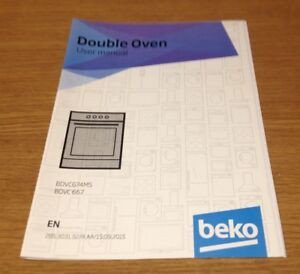 genuine beko bdvc674ms bdvc667 double oven instruction manual user rh ebay co uk beko cooker hood user manual beko cooker hood user manual
