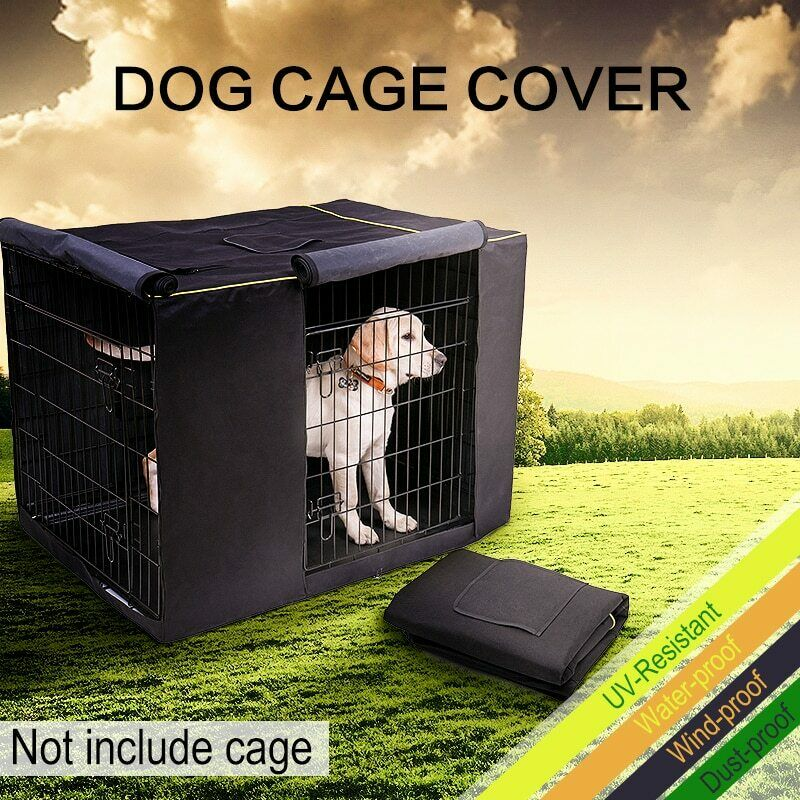 PAWZ® Pet Dog Cages Cover Waterproof Non-slip Solid Extra Kennel Cage Cover