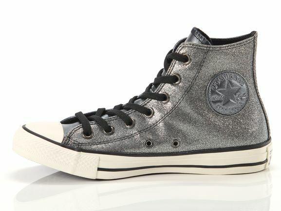 Converse All Star Chuck Taylor SNEAKERS Scarpe Donna 565823C Argento Glitter