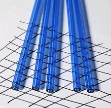 2 Pcs 12 Od 14 Id X 12 Inch Long Clear Blue Acrylic Plexiglass Lucite Tubes