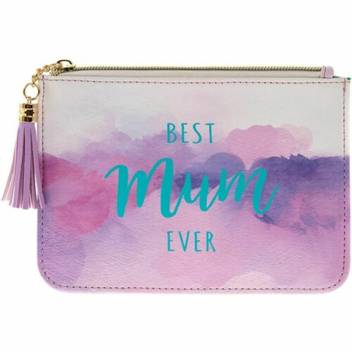 Best Mum Ever PU Leather Coin Purse Clutch Hand Bag Mothers Day Gift