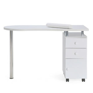 Manicure Nail Table Station Beauty Salon Desk Mobile Spa Drawer ...