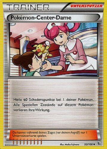 Pokemon-Center-Dame // Pokemon Center Lady 93//106 Flammenmeer DE NM