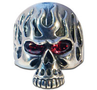Ring Mens Biker Scull Sterling Silver Handmade Jewelry 925 Rock Motorcycle