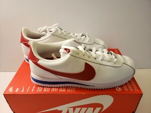 Details about Nike Cortez Basic Leather OG Mens Running Shoes 8 White Red Royal 882254 164