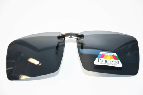 Sonnenvorhänger grau für Brillen Polarisierend Brillenclip Neu Sonnenclip