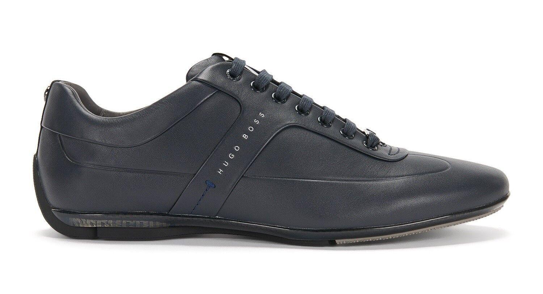 Nouveau bleu HUGO BOSS MERCEDES AMG PETRONAS F1 Cuir Mocs Chaussures Baskets 7 8 11