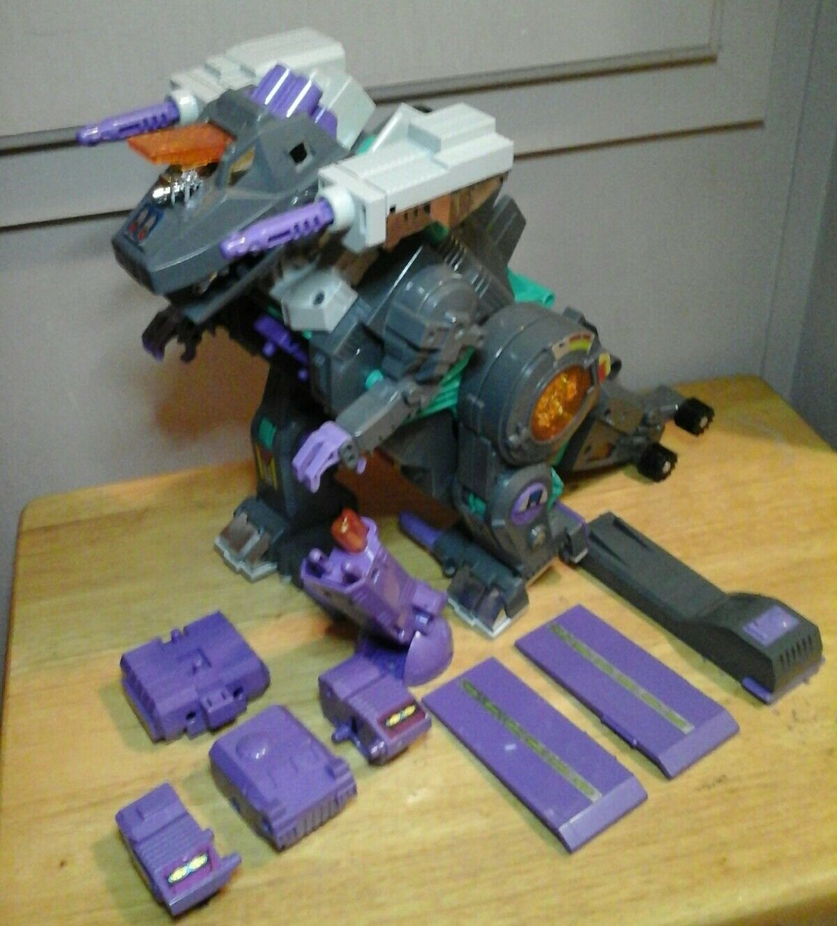 TRANSFORMERS G1 TRYPTICON 1986 HASBRO VINTAGE ORIGINAL W  BRUNT WORKING GREAT