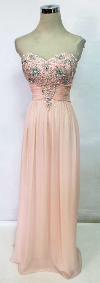 ALEX & SOPKIA pink Evening Prom Party Gown 5 -  NWT