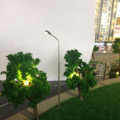 Packung 1:75 Modellbahn Zuglampe Straßenbeleuchtung HO OO Stahlrohr 5 Stück
