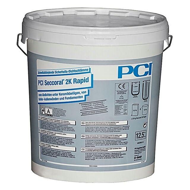PCI Seccoral 2k Rapid Flüssig-komponente 12,5kg Lodos Densos Balcón Terraza