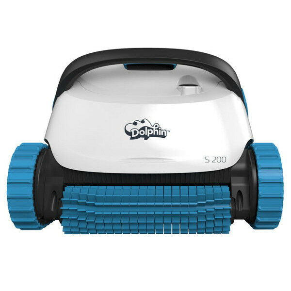 Dolphin S200 Poolroboter Poolsauger mit Aktivbürste und Filterkorb, Boden+Wand