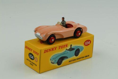 Aston Martin DB3S mit Figur pink Ref 104 1:43 Dinky Toys Atlas