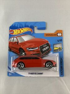 Hot-Wheels-17-Audi-RS6-Avant-Red-Short-Card-Diecast-1-64-BOXED-SHIPPING