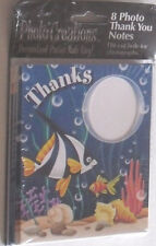 PARTY THANK YOU CARD NOTES & PHOTO SLOT 8 CARDS WITH ENVELOPES @@ MY OTHER ITEMS
