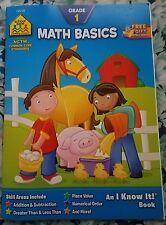 Math Basics 1 by Barbara Gregorich and Roberta Bannister (1994, Paperback, Workbook)