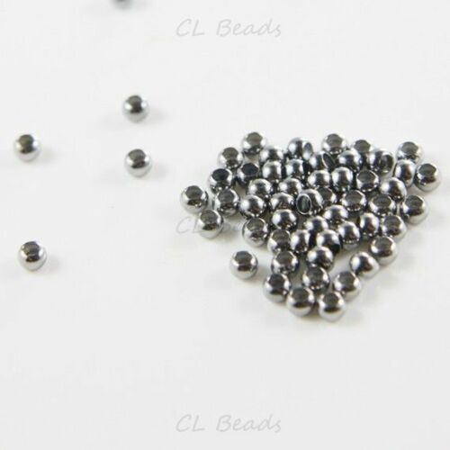 324C-I-10M 100pcs Gunmetal Tone Base Metal Crimp Beads-2mm