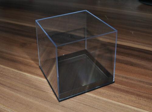 schwarz Mineralien Sammlerkästchen 80 x 80 x 78 mm 5 Stück Sammlerbox