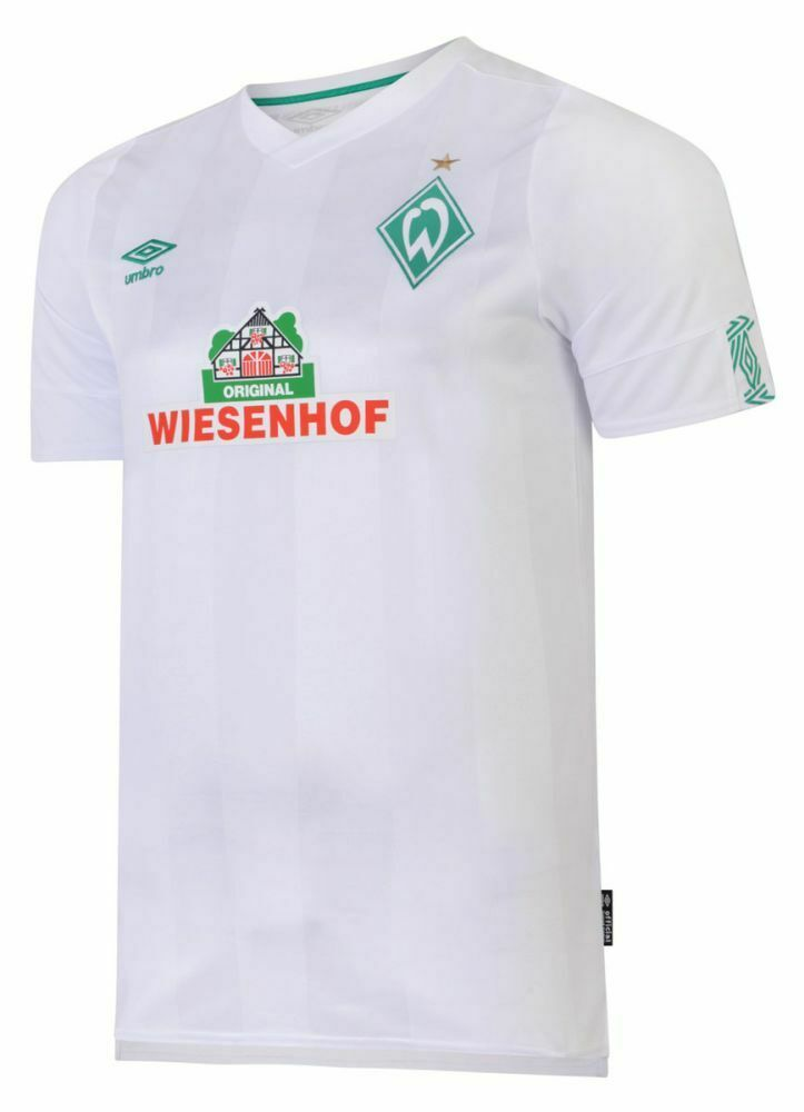 UMBRO Calcio in SV WERDER BREMA da uomo AWAY JERSEY SHIRT TOP 2019 2020