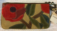 NWT'S Coach Poppies Special Edition / Soho Floral Suede Wristlet - Spring 2004