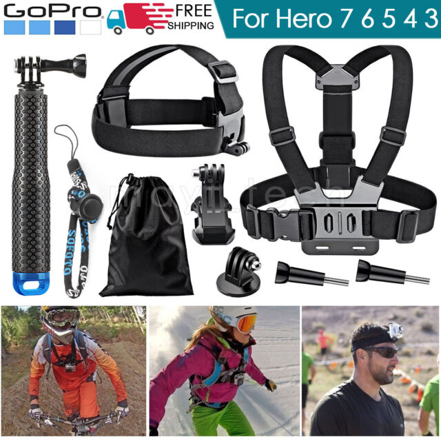 GoPro Accessories Head Strap Mount helmet Chest Harness for HD Hero 7 6 5 4 3 2