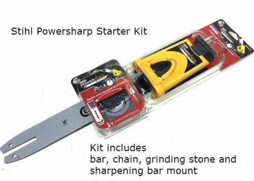 "16/"" Oregon PowerSharp Chainsaw Sharpening Starter Kit For Stihl Saws Listed"