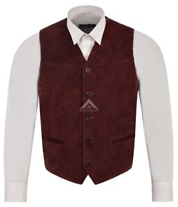 Festival Suede About Waistcoat Party Vest Cowboy Western Mens Details Real Cherry Leather Zara jUzVLqSMpG