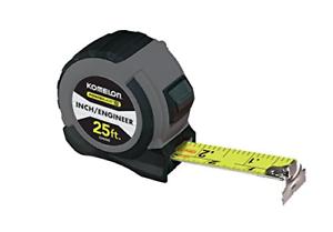 Grey//Black Komelon 52425IE Powerblade II Inch Engineer Tape Measure