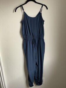 Parker Navy Spaghetti Strap Ruched Leg Drawstring Waist Jumpsuit Size XS