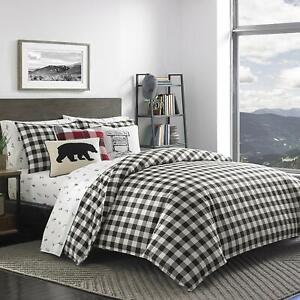 Eddie Bauer Mountain Plaid Comforter Set King Black Ebay