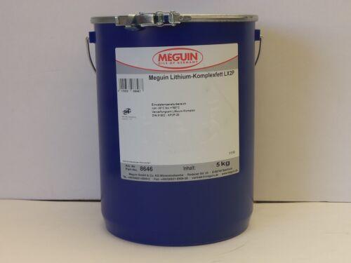 7,98€//kg Meguin Lithium-Komplexfett LX2P 5 kg Universal-fett