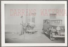 Vintage Car Photo Man Selling Flowers & 1931 Cadillac Automobile 765046