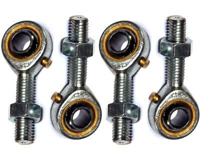 8mm Maschio Bronzo Cravatta Pista Estremità Set (2 X Mano Sinistra & 2 X Destro) Per Classificare Prima Tra Prodotti Simili