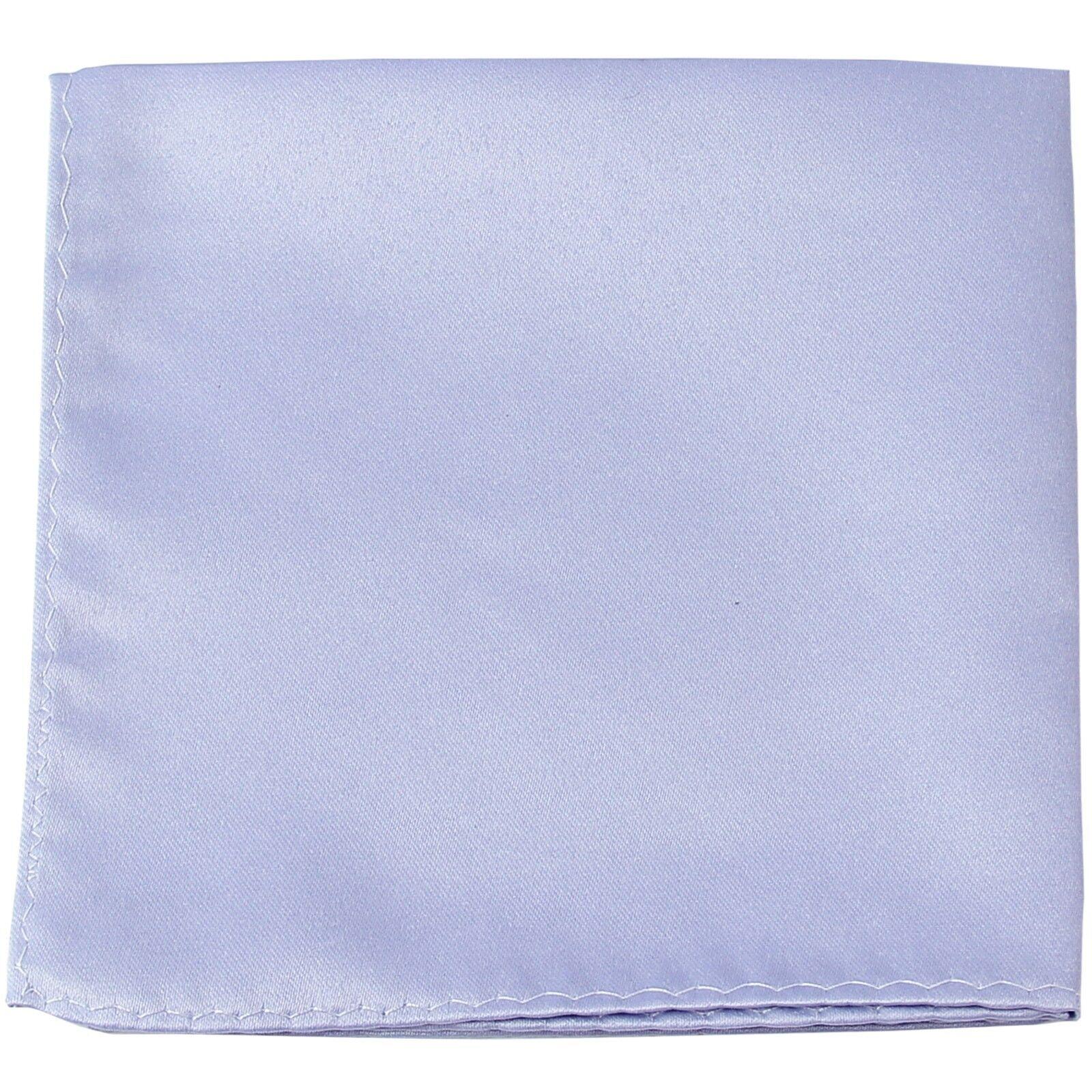 MANZO Men's Polyester Matt Finish Pocket Square Hankie Only Smoke Gray