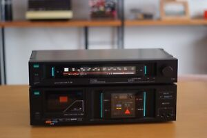 Retro-SANSUI-T-510-AM-FM-Stereo-Tuner-and-D-59M-Cassette-Player-Made-in-Japan