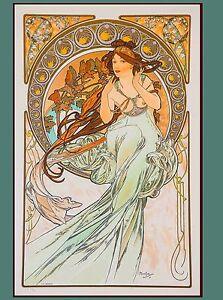 Art Nouveau Music Poster