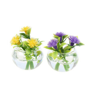 1-12-Dollhouse-Miniature-Simulation-Hydroponic-Glass-Plant-Potted-Flowers-Mo-mi