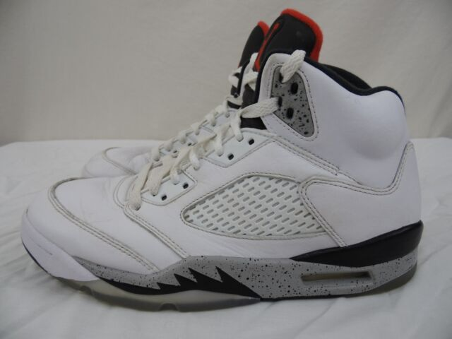 03f110d1acf Nike Air Jordan 5 Retro White Cement 136027-104 Size 11 for sale ...