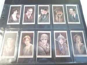 1928-Wills-CINEMA-STARS-movie-ser-1-Tobacco-Cigarette-25-cards-complete-set