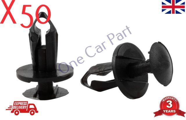 50x Clips For Land Rover P38 Wheel Arch Bumper Splashguard Shield Fastener Black