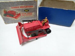 Vintage-Diecast-Meccano-Dinky-supertoys-961-Blaw-Knox-Bulldozer-Red-Boxed