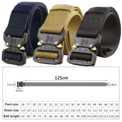 Belt Men Canvas Adjustable Military Tactical Buckle Combat Waistband Waist Strap
