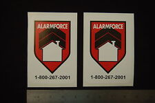 2x 24 hr alarm force SECURITY SURVEILLANCE  DECAL STICKER property home CCTV