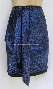 Sale Edt Party Royal Mini Skirt Blue navy Sequin Dark Karen Bnwt Evening New Millen Lmt Sj066 Club £120 wB7qBC