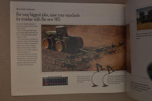 John Deere Brochure Seedbed Tillage Mulch Master Finisher Field Cultivator1992
