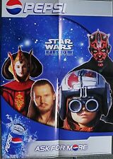 STAR WARS / PEPSI THE PHANTOM MENACE MINI POSTER 23 X 16.5 INCHES